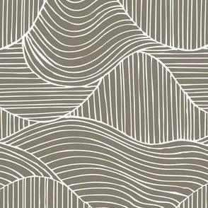 Dunes - Geometric Waves Stripes Taupe