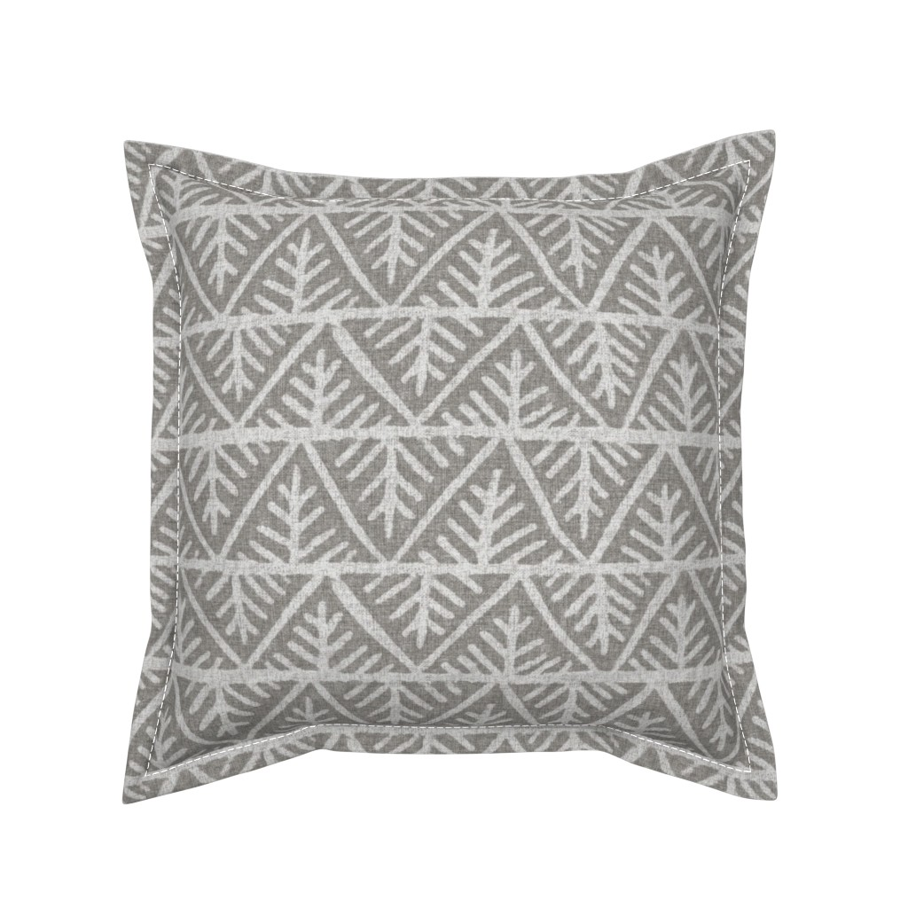 Serama Throw Pillow featuring Textured Mudcloth in Gray by willowlanetextiles