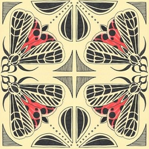 Harnessed tiger moth tile
