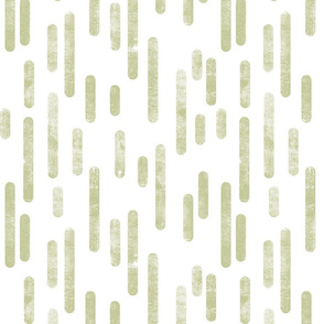 Pale Pistachio on White Inky Rounded Lines Pattern