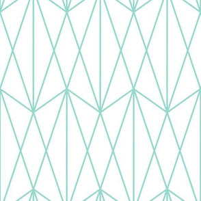Diamond Grid - Mint