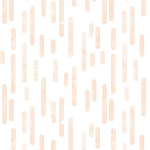 Pale Peach on White Inky Rounded Lines Pattern