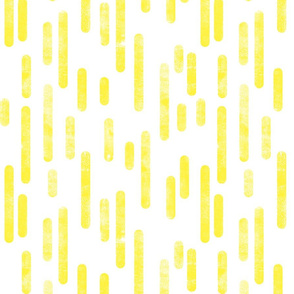Bright Yellow on White Inky Rounded Lines Pattern