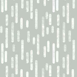 White on Light Gray Green Inky Rounded Lines Pattern