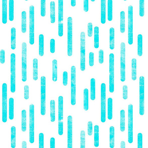 Bright Blue on White Inky Rounded Lines Pattern