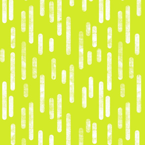 White on Bright Lime Green Inky Rounded Lines Pattern