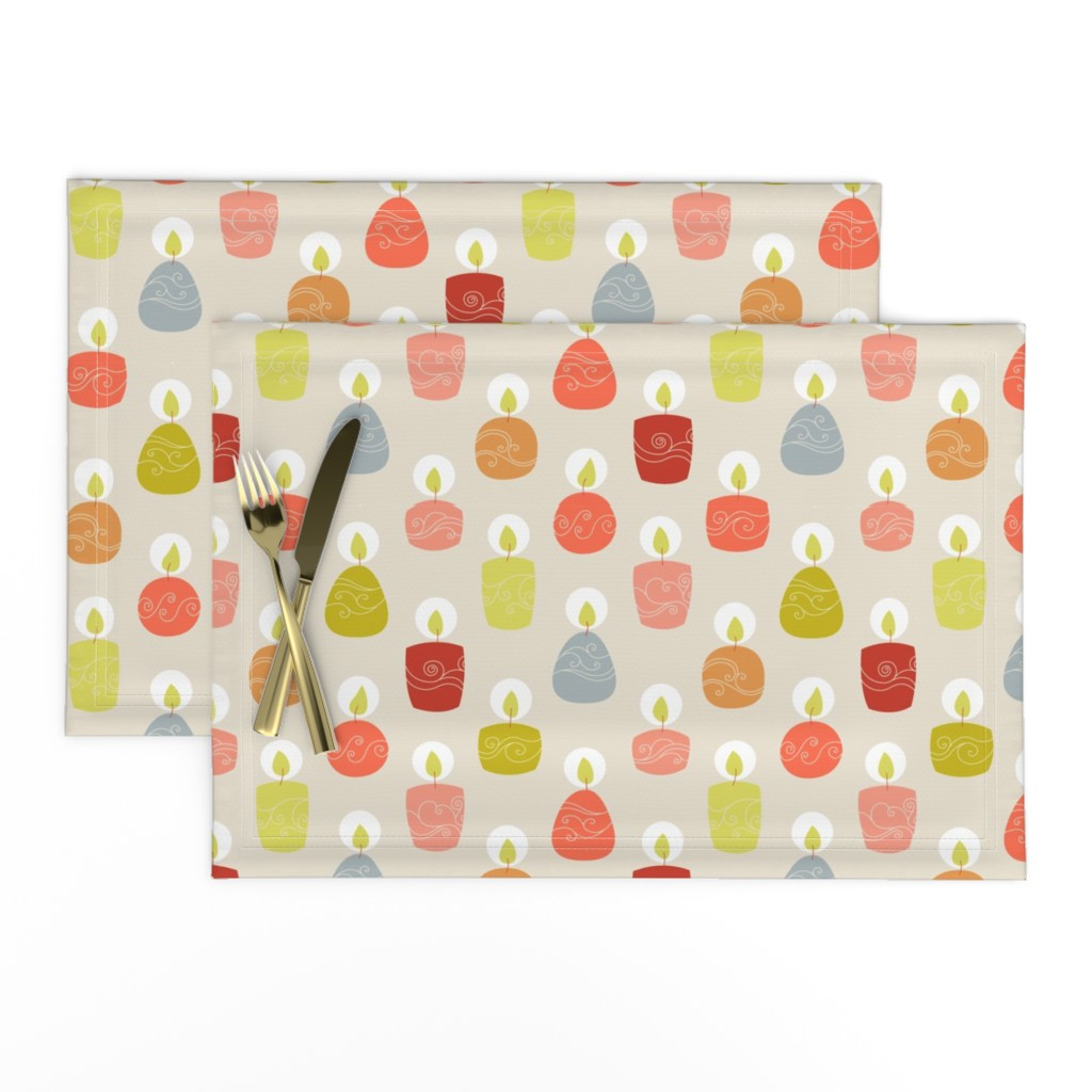 Lamona Cloth Placemats featuring candlespink by stephdevino