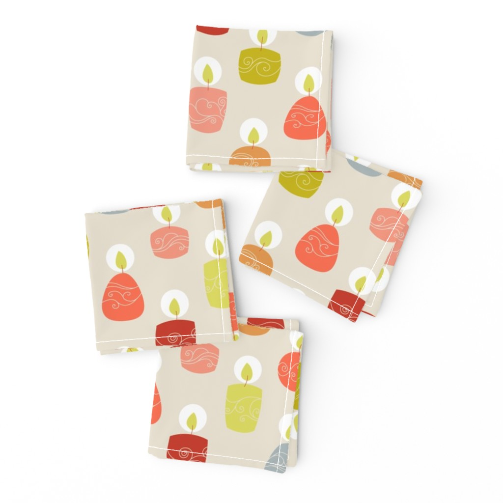 Frizzle Cocktail Napkins featuring candlespink by stephdevino