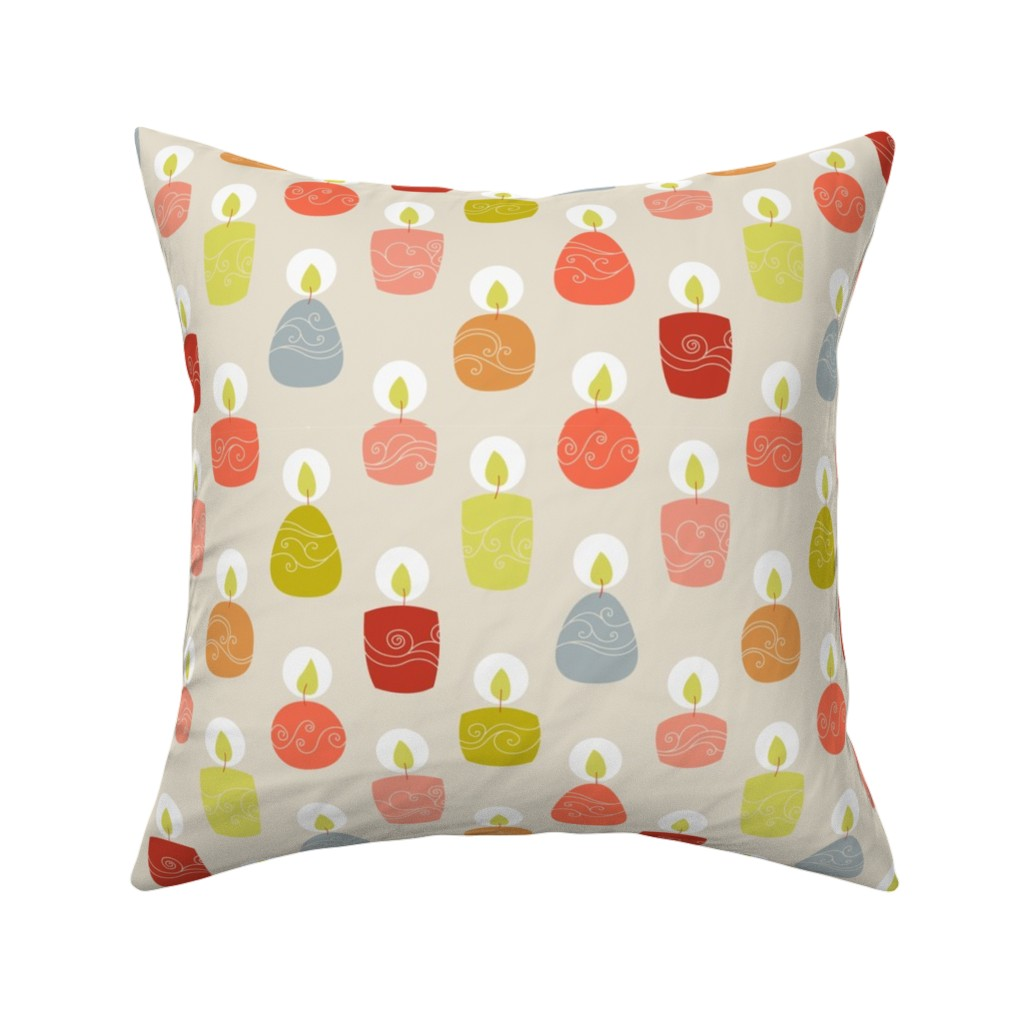 Catalan Throw Pillow featuring candlespink by stephdevino
