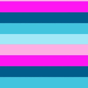 PINK AND BLUE RAINBOW Stripes