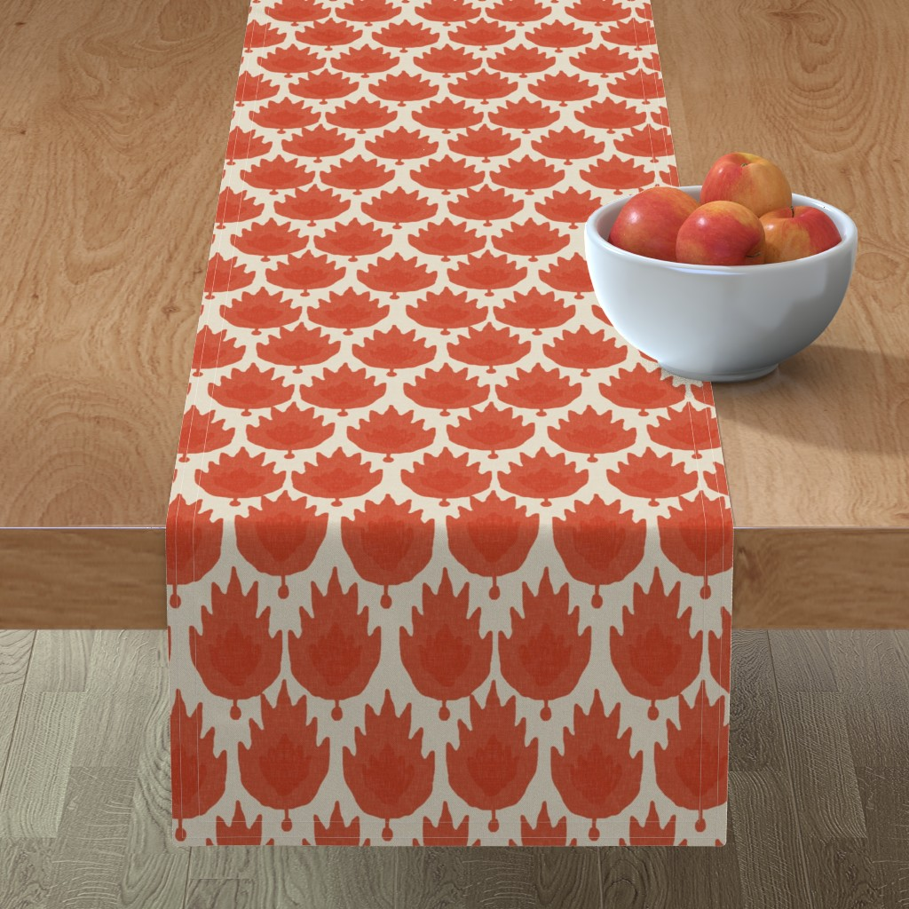 Minorca Table Runner featuring Casbah in Spice by willowlanetextiles