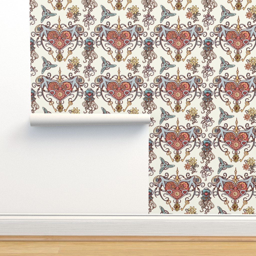 Isobar Durable Wallpaper featuring OCTOPUSES IN LOVE by chicca_besso