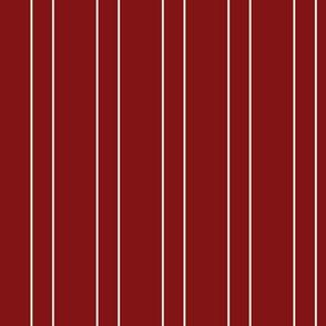 White stripe on Red