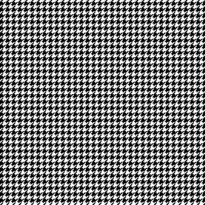 houndstooth tiny black
