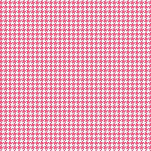 houndstooth tiny hot pink