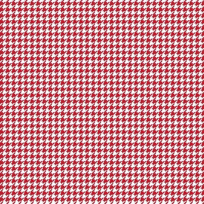 houndstooth tiny red