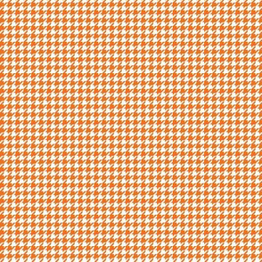houndstooth tiny orange