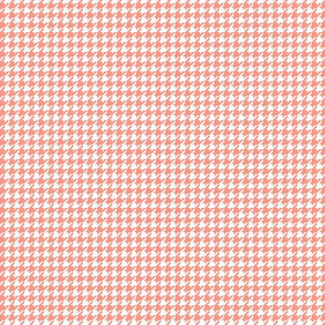 houndstooth tiny peach