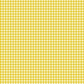 houndstooth tiny mustard yellow
