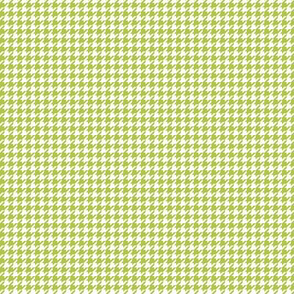houndstooth tiny lime green