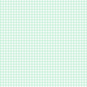 houndstooth tiny ice mint green