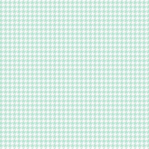 houndstooth tiny mint green