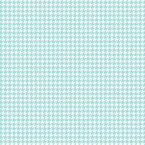 houndstooth tiny light teal