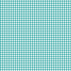 houndstooth tiny teal