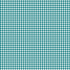 houndstooth tiny dark teal