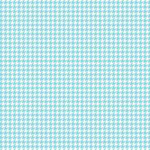 houndstooth tiny sky blue
