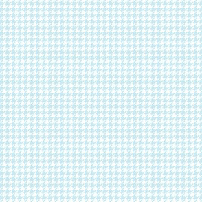 houndstooth tiny ice blue