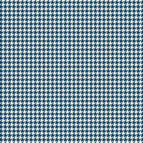 houndstooth tiny navy blue