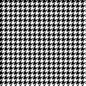 houndstooth black