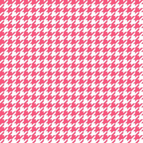 houndstooth hot pink
