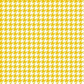 houndstooth mustard yellow