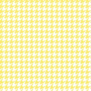 houndstooth lemon yellow