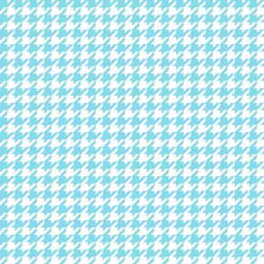 houndstooth sky blue