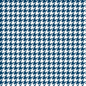 houndstooth navy blue