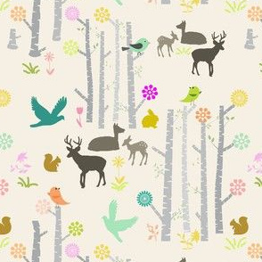 Woodland Deer Light Gray
