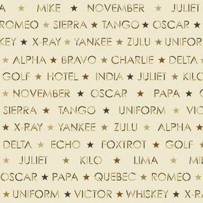 small nautical alphabet - antique