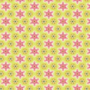 Starflower green and raspberry