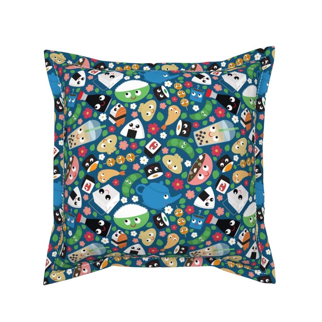 Serama Throw Pillow featuring Bento Box by heidikenney