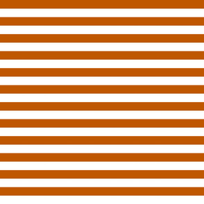 Spiced Pumpkin  and White ~ Stripe