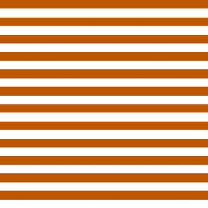 Spiced Pumpkin  and White ~ Stripe