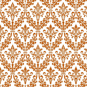 Spiced Pumpkin and White ~ Divine Damask