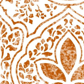 Spiced Pumpkin and White ~ Rajkumari Batik