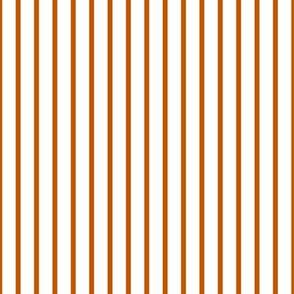 Spiced Pumpkin and White ~ Thin Stripe