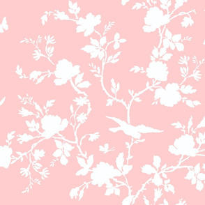 AMES Chinoiserie Silhouette in peony wallpaper