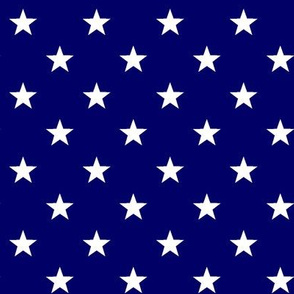 Patriotic American Flag Blue and White Stars remake