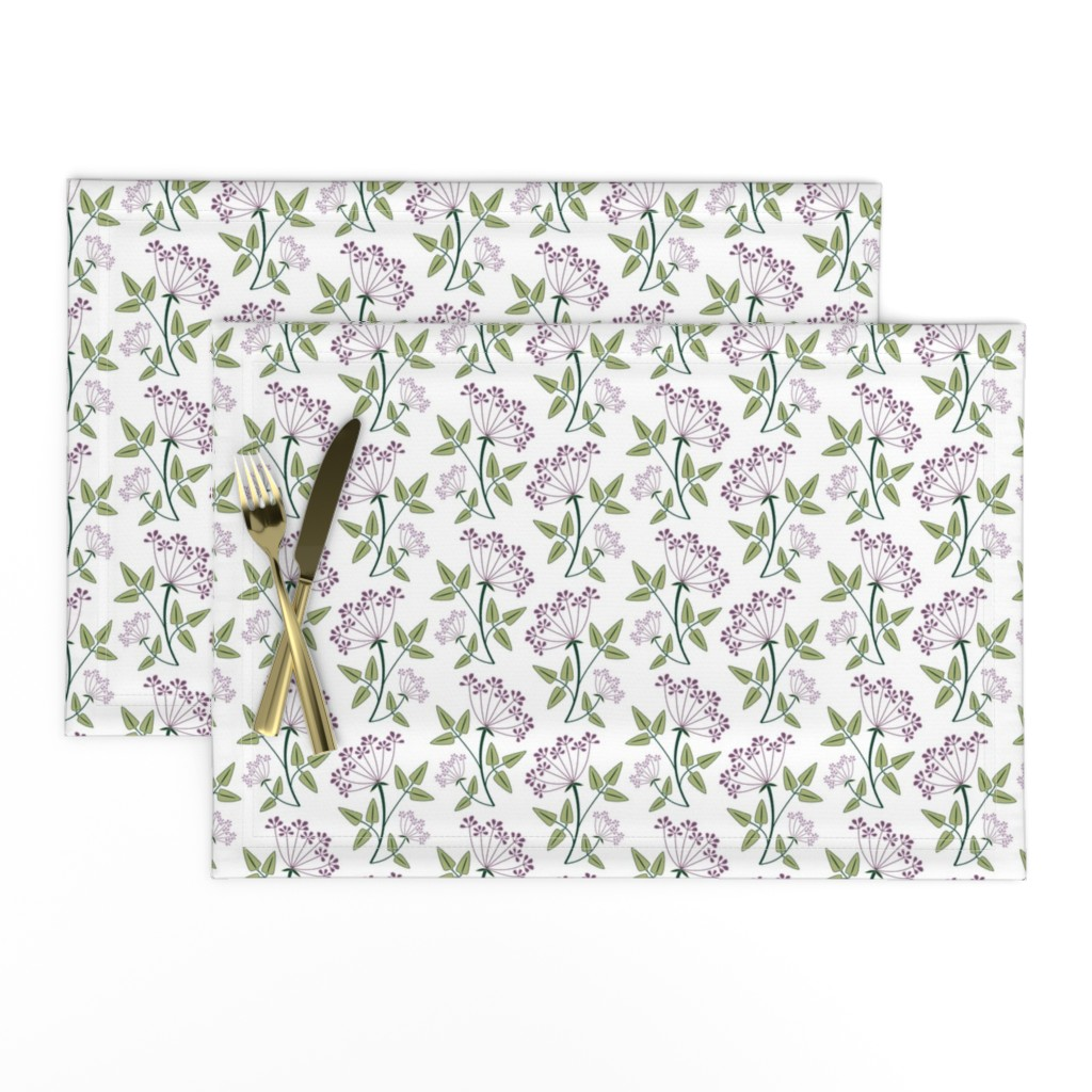 Lamona Cloth Placemats featuring woodland_lacy_flower1 by cindylindgren